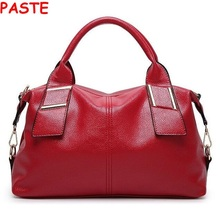 PASTE Russia winter Women messenger bag Women's leather handbags new fashion Female bag Totes High quality luxury Shoulder Bags(China)