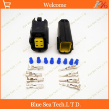 Sample,5 sets 4 Pin Auto oxygen sensor plug connector,Car electrical plug for SGMW,VW,Toyota etc.Free Shipping