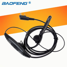2 Pin Ear Bar Walkie Talkie PTT Mic Earpiece for Kenwood BAOFENG UV-5R Retevis 777 RT-5R TYT PUXING Hf Transceiver(China)
