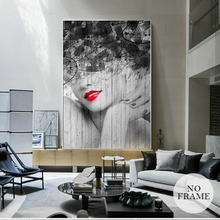 Abstract Fashion Minimalist Canvas Painting Sexy Lip Modern Canvas Painting Posters And Prints Wall Art Pictures For Living Room(China)