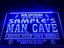 DZ033- Name Personalized Custom Man Cave Basketball Bar  LED Neon Light Sign