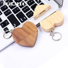Heart Wooden USB Flash Drive Pen drive Memory Stick pendrive usb flash 8GB 16GB 32GB 64GB 128GB usb stick romantic wedding gift(China)