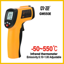 RZ New IR Infrared thermometer thermal imager handheld digital electronic car temperature hygrometer 550 C Emissivity adjustable(China)