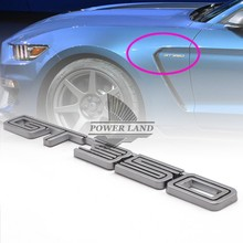 Car Styling 3D GT350 Car Body Sticker Badge Fender Side Logo Rear Trunk Emblem Universal for Super Snake COBRA Mustang GT350