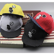 2017 New Cow devil Children Hip Hop Baseball Cap Summer kids Sun Hat Cartoon Boys Girls snapback Caps 2-8 years old