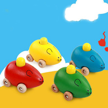 1 Pc Wooden Colorful Cartoon Mouse Sound Baby Children Learning Cognitive Educational Toys Funny Games Intelligence Exercise(China)