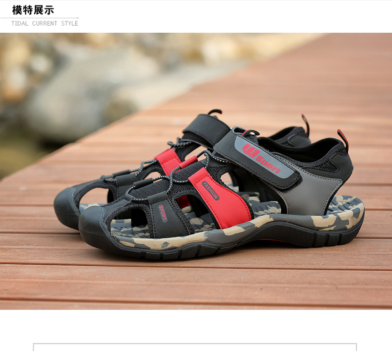Leader Show Men Fashion Casual Shoes Summer New Adult Outdoor Beach Shoes High Quality Comfortable Man Baotou Sandals Breathable 8 Online shopping Bangladesh