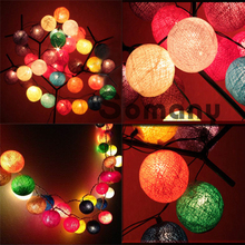 Best Discount! Luminaria 220V 7 Colours Rainbow Color 3M 20pcs Balls/set New Year Fairy Decoration Strip Light Christmas Lights