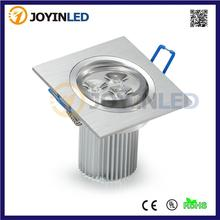 CE&RoHS AC85-265V 3*3W 9W high power led Downlight square