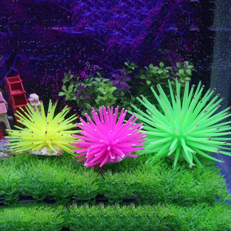 1Pcs Silicone Aquarium Fish Tank Artificial Coral Plant Underwater Ornament Decor 6Colors(China (Mainland))