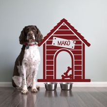 Pets Dog House Wall Decal Animal Custom Personalized Name Quote Love Decor Idea 26inx22in