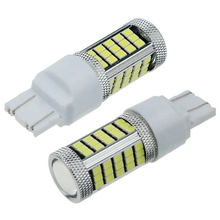2pcs W21/5W 7443 T20 LED car rear light stop bulbs 21/5W auto Direction Indicator lamps  red white yellow amber 12V 2X