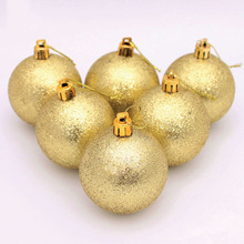 6pcs/ lot 6cm Christmas Tree Decor Ball Bauble Hanging Xmans Christmas Party Ornament Decoration New D(China)