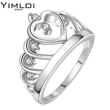Engrave Name Free 2017 New Collection 925 Sterling Silver Brilliant Stackable Ring Clear CZ Ring Fine Jewelry Anillos RA015