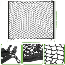 4 HooK Car Trunk Cargo Mesh Net Luggage For Mercedes Benz W211 W221 W220 W163 W164 W203 C E SLK GLK CLS M GL accessories(China)