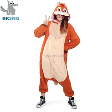 HKSNG Unisex Adult Animal High Quality SAZAC Orange Chipmunks Pajamas Kigurumi Onesies Brown Squirrel Costumes Christmas Gift(China)