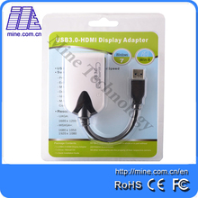Wholesale USB 3.0 to HDMI Video Display Adapter Multi-Display Cable Adapter Extended Mirror Support win10(China)