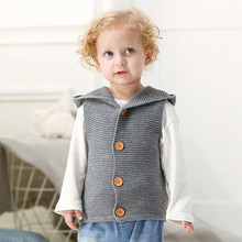 6M-24M High quality winter spring fashion knitting Vest Toddler Kids Baby Girls Boys Warm Clothes Thick Coat Outerwear Coats