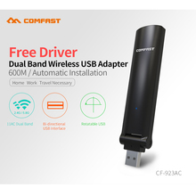 COMFAST CF 923AC 600Mbps 802.11ac Wireless USB Adapter Dual Band 2.4G 5.8G Driver Free WiFi Receiver Network Card for Computer(China)