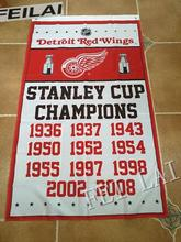 3X5FT NHL Detroit Red Wings Stanley Cup champions  flag  banner  metal Grommets Free Shipping  custom flag 100D Digital Print