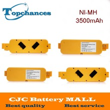 4PCS High Quality 14.4V 3500mAh Ni-MH Vacumm Cleaner Batteries For iRobot Roomba 400 405 410 415 416 418 4000 Free Shipping