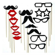 15PCS Photo Booth Props Party Decoration Mask Mustache Lips Glasses Stick for Fun Favor photobooth wedding brithday party favors