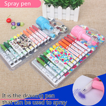 ZYCC 12/24 Colors/ set Premium Art Markers Water Color Spray Pen for Kids Painting gift(China)