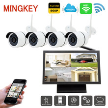 Mingkey 960P IP Camera Wireless Security Camera System 4CH DVR Kit Wifi NVR IR Night Vision Outdoor Camera Video Surveillance
