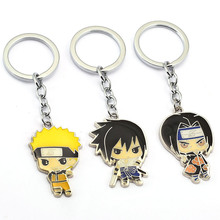 NARUTO Keychain Uchiha Sasuke Itachi Key Ring Holder Chaveiro Car Key Chain Pendant Anime Jewelry Souvenir