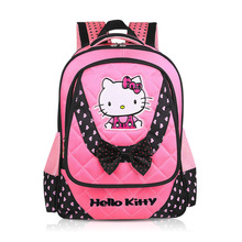 Nylon Cute Hello Kitty Backpack Girl Bag Student School Bags lovely Primany School Bag for children kids Vkystar 233