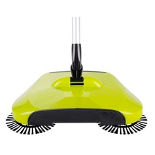 New Stainless Steel Sweeping Machine Push Type Hand Push Dust Sweeper Broom Cleaning Mop Tool Handle Household Cleaning Sweeper