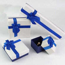 High-grade Jewelry Box Bow bracelet box carton gift box Jewelry suit box
