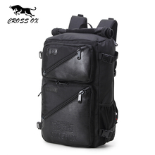 CROSS OX 2017 New Arrival Fashion Multi-function Men backpack Nylon and PU leather backpack computer bag Male Hike bag BK036M