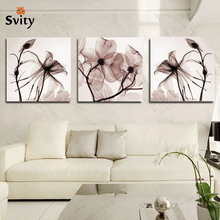 3 Panel Modern Wall canvas Painting Home Decorative Art Picture Paint on Canvas Prints Blue flower enchanting