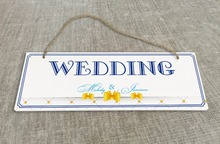 Personalized Outdoor Wedding Reception & Ceremony Decoration Directional Signs wedding sign board  Ribbon feel SB017H