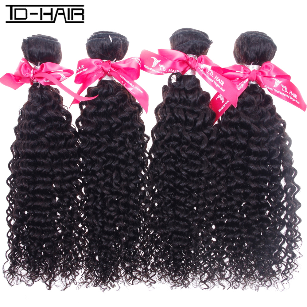 8A Brazilian Virgin Hair kinky curly Color 1B 4pcs brazilian Hair kinky curly Weave remy hair Bundles TD HAIR kinky curly weaves<br><br>Aliexpress