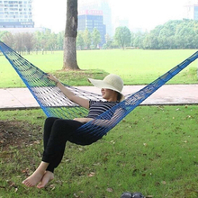 Portable Nylon Hammock Hanging Mesh Sleeping Bed Swing Outdoor Camping Hiking Traveling Kits 270cm x 80cm