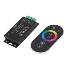 ICOCO High Quality DC 12-24V 18A Wireless LED Controller RF Touch Panel LED Dimmer RGB Remote Controller for RGB LED STRIP LIGHT