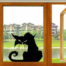 2016 Popular Vinyl Removable 3D Wall Stickers Halloween Black Cats Decor Decals for Walls Home Decoration(China)