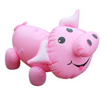 Newest Kids RIde on Water Toys Inflatalbe Pink Pig Float Toys Thicken PVC Outdoor Fun Toys for Summer Swimming Pool Party Favor(China)