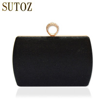 Fashion Sequins Diamonds Women's Pouch Clutch Evening Bags Chain Messenger Bag Purse Box Knucklebox Ladies Luxury Handbags BA341