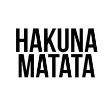 Funny Hot Sale Hakuna Matata Abstract artistic lettering Car Sticker For Truck Window Bumper Door motorcycle Laptop Vinyl Decal