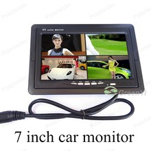 7 inch digital with remote control lcd car monitor small display for universal vehicle reversing parking backup rearview camera