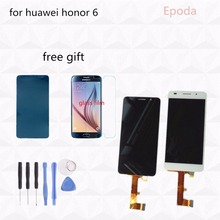 Original 5.0 inch Huawei honor 6 LCD Display Touch Screen Digitizer Assembly Frame Black White Screen Replacement 1920x