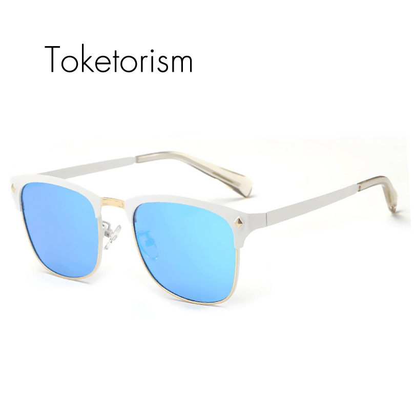 Classic metal half frame sun glasses 2017 eyebrow sunglasses unisex polarized oculos de sol 9652<br><br>Aliexpress