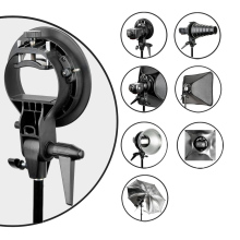 PRO Godox S-Type Durable plastics Bracket Bowens Mount Holder for Speedlite Flash Snoot Softbox Photo Studio Accessories(China)
