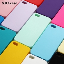 XBXCase Cute Solid Candy Color TPU Soft Case for iPhone 6 6S 5 5S SE Silicone Glossy Back Protect Cover for iPhone 7 8 Plus X(China)