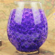 1 Bag Newest Purple Water Plant Flower Jelly Crystal Soil Mud Water Pearls Gel Beads Balls Decoration Vase Crystal Creative