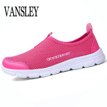 Women Casual Shoes Flat Lady Women's Fashion Air Mesh Summer Shoes Female Slip-on Plus Size 34-41 Shoes Zapatos Mujer(China)