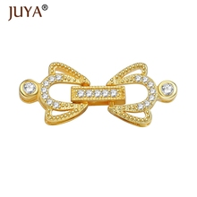 Jewelry Making Supplies Fashion Connectors Clasps For Bracelets Necklaces Accessories DIY Beaded Pearls Jewellery Findings(China)
